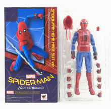Marvel Avengers Super Heros Spider Man Homecoming The Spiderman PVC Action Figure Collectible Model Toy 14cm 4pcs lot super climber stikbot action figure toy cartoon spider man stik bot funny play collection jouet children birthday gift