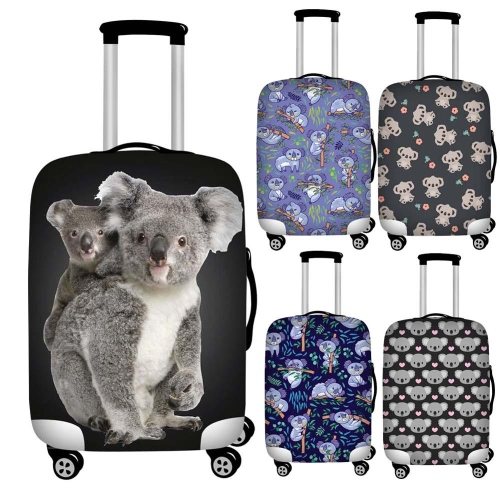 Twoheartsgirl Kawaii Koala Print Luggage Protective Dust Covers Elastic Waterproof 18-32inch Suitcase Cover Travel Accessories