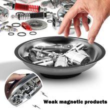 Círculo de aço inoxidável peças magnéticas tigela ferramenta bandeja porcas parafusos parte bandeja peças magnéticas placa prata