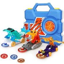 3 pçs conjunto screechers explosão selvagem flips transformação besta robô adesivos carro anime figuras de ação deformação crianças meninos menina brinquedo