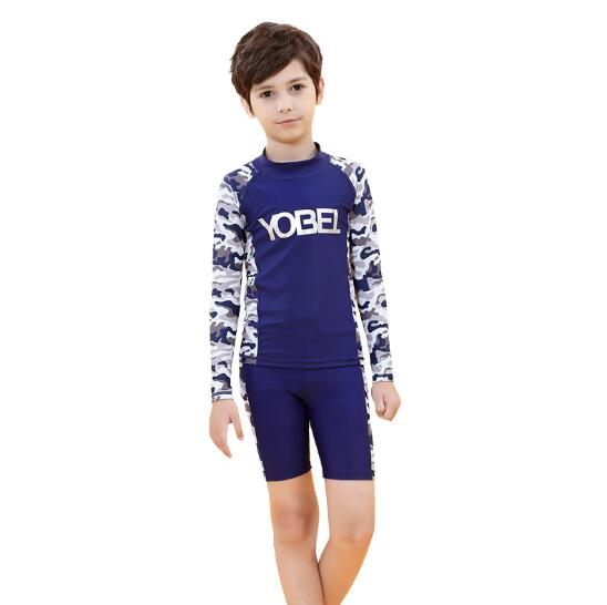 Enfants Anti-UV séchage rapide maillots de bain deux pièces combinaison de plongée été natation surf combinaisons pantalons hauts