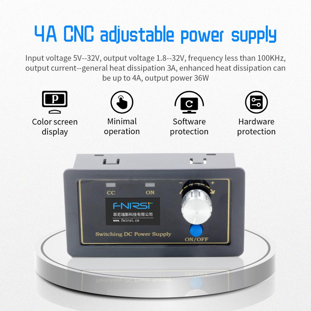 CNC DC DC Buck Boost Converter CC CV 0.5-30V 4A Power Module Adjustable Regulated Power Supply For Solar Battery Charging