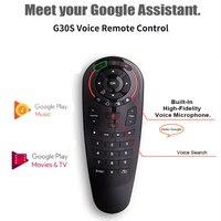 Google音声コマンドG30s,2.4GHz,ワイヤレス学習機能,33キーキーパッド,Android TVボックス用リモコン