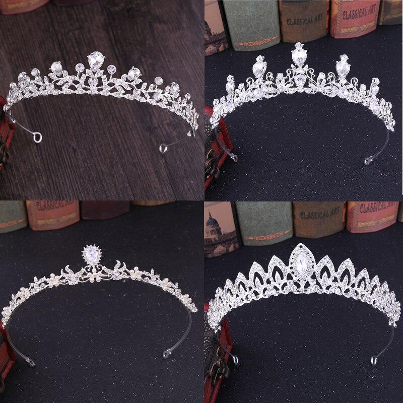 Multi coloured rainbow jewel silver headband crown tiara Alice band