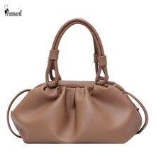 FUNMARDI Casual Dumpling Lady Handbags Cloud Shape Pleated Crossbody Bags For Women 2020 Soft PU Leather Shoulder Bags WLHB2134
