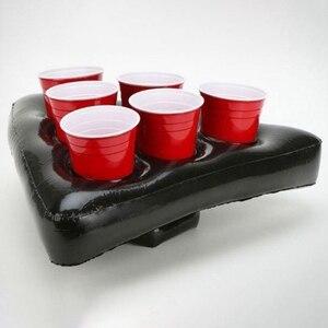 Chapeau gonflable de bière de Pong | Jeu de Pong flottant pour piscine, fournitures de fête, jouets gonflables de plage pour enfants, bière géante de Pong