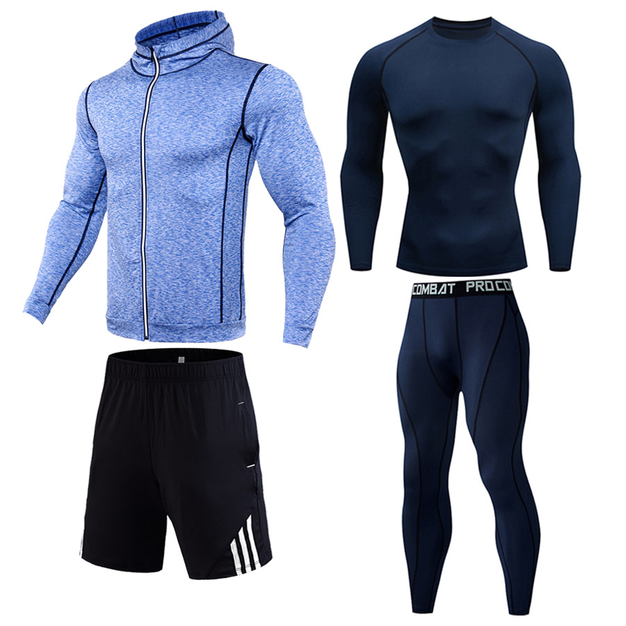 Men's Gym Compression Sportswear Perspiration Dry Sport Suit Thermal Underwear Track Suit Tights Rashgard Male Jogging Clothing
