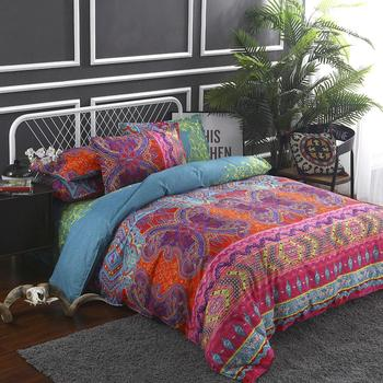 2020 Hot Bohemian style comforter bedding set printing bed set duvet cover sets Queen King Quilt Cover Pillow cases Home Textile