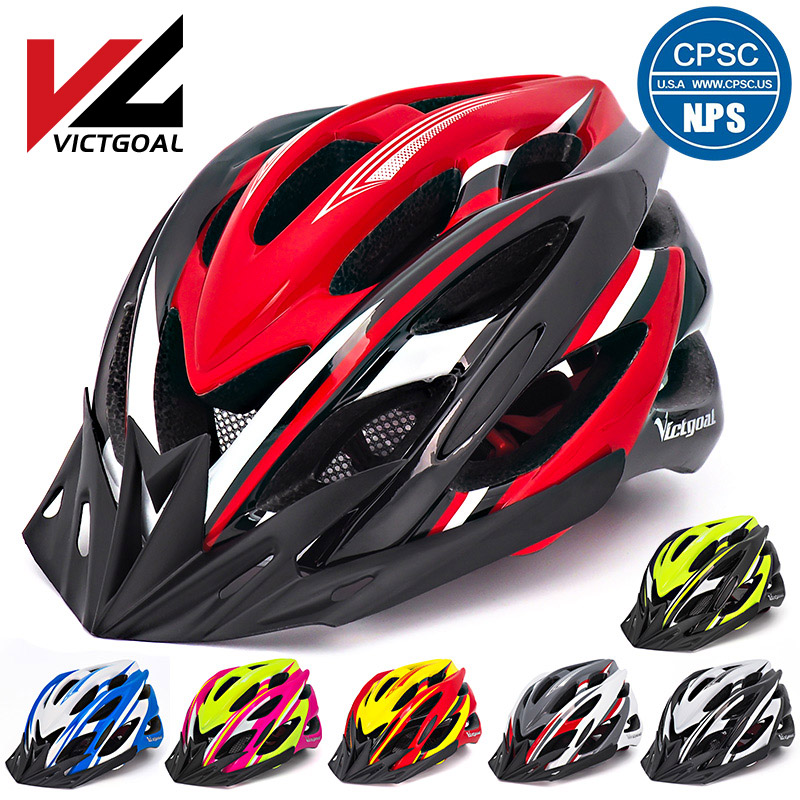 VICTGOAL Bike Helmet LED Lights Visors for Men Women Breathable Ultralight Sport Cycling Helmet MTB Mountain Road Bicycle Helmet title=