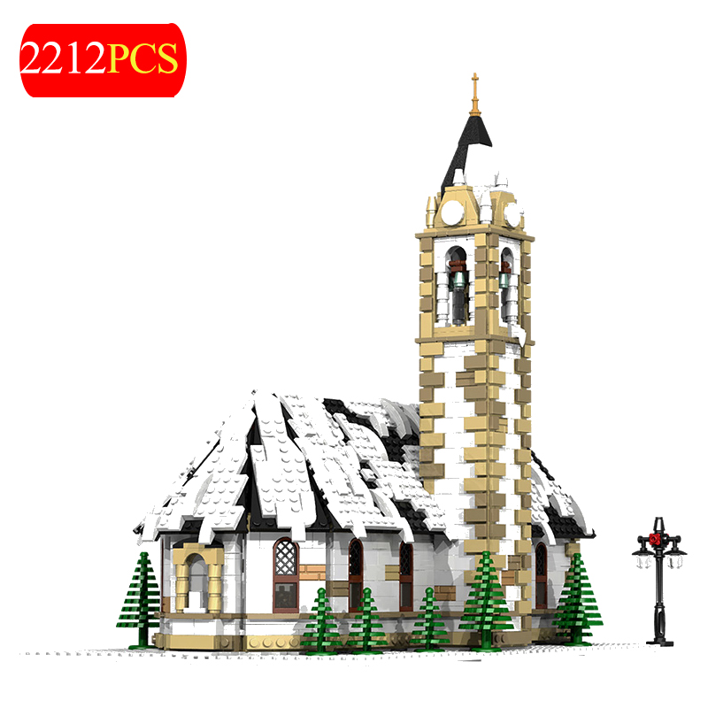 Bricks Cottage Christmas-Village Buildings-Blocks for Children Xmas-Toys 2212PCS House