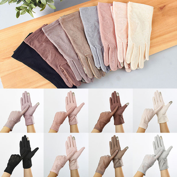 new women lace sunscreen gloves autumn spring lady stretch touch screen anti uv slip resistant driving glove breathable guantes Stretch Thin Anti UV Touch Screen Breathable Gloves Ice Silk Slip Resistant Sunscreen Gloves Driving Gloves Women Gloves