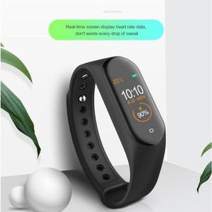 Image 5 - Nieuwe M4 Smart Band Polsband Horloge Fitness Tracker Armband Kleur Touch Sport Hartslag Bloeddrukmeter Mannen Vrouwen Android