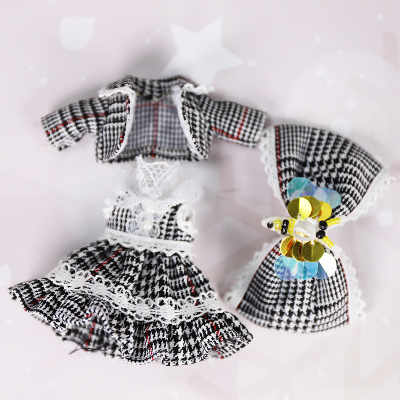 Clothes For 1/8 BJD Middle DODO ob11 doll cute soft suit with headwear high quality soft clothes for 20cm bjd