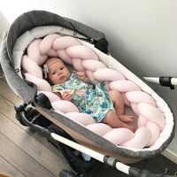 200 см детская кровать бампер коса Младенческая подушка для колыбели детский протектор узел для новорожденных Bebe Детская комната Декор ткач...