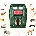 Отпугиватель животных, ультразвуковой репеллент с пассивным ИК датчиком, работает на солнечных батареях, для защиты сада от вредителей, мыш...