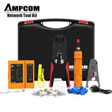 Набор инструментов для сети, AMPCOM 11 в 1 Профессиональный портативный Ethernet компьютер обслуживание LAN Кабельный тестер ремонтный набор