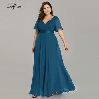 Plus Size Dresses For Women 4xl 5xl 6xl New Beach Long Summer Dress Elegant V Neck Chiffon Party Dress Night Robe Longue Boheme 1