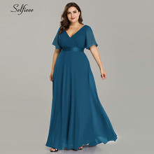 Plus Size Dresses For Women 4xl 5xl 6xl New Beach Long Summer Dress Elegant V Neck Chiffon Party Dress Night Robe Longue Boheme