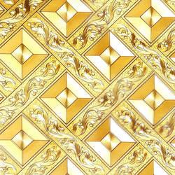 Потолочные обои золотая пленка Золото Aureus Ромб плед КТВ гостиная бар потолок прихожей обои с крышами