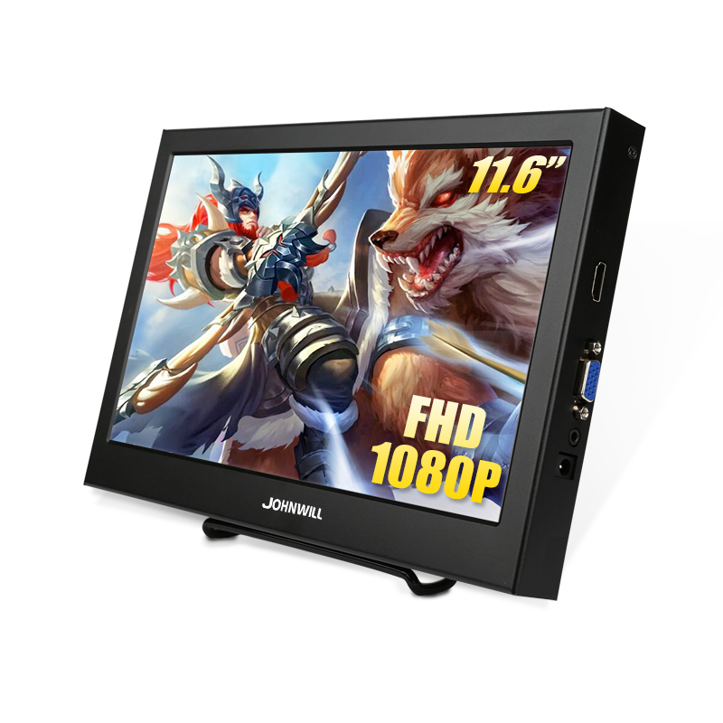 11.6 Inch 1920X1080 IPS LCD Portable Display For PS3/PS4/XBOx360 With VGA/HDMI Interface 10.1 Inch Computer Gaming Monitor PC