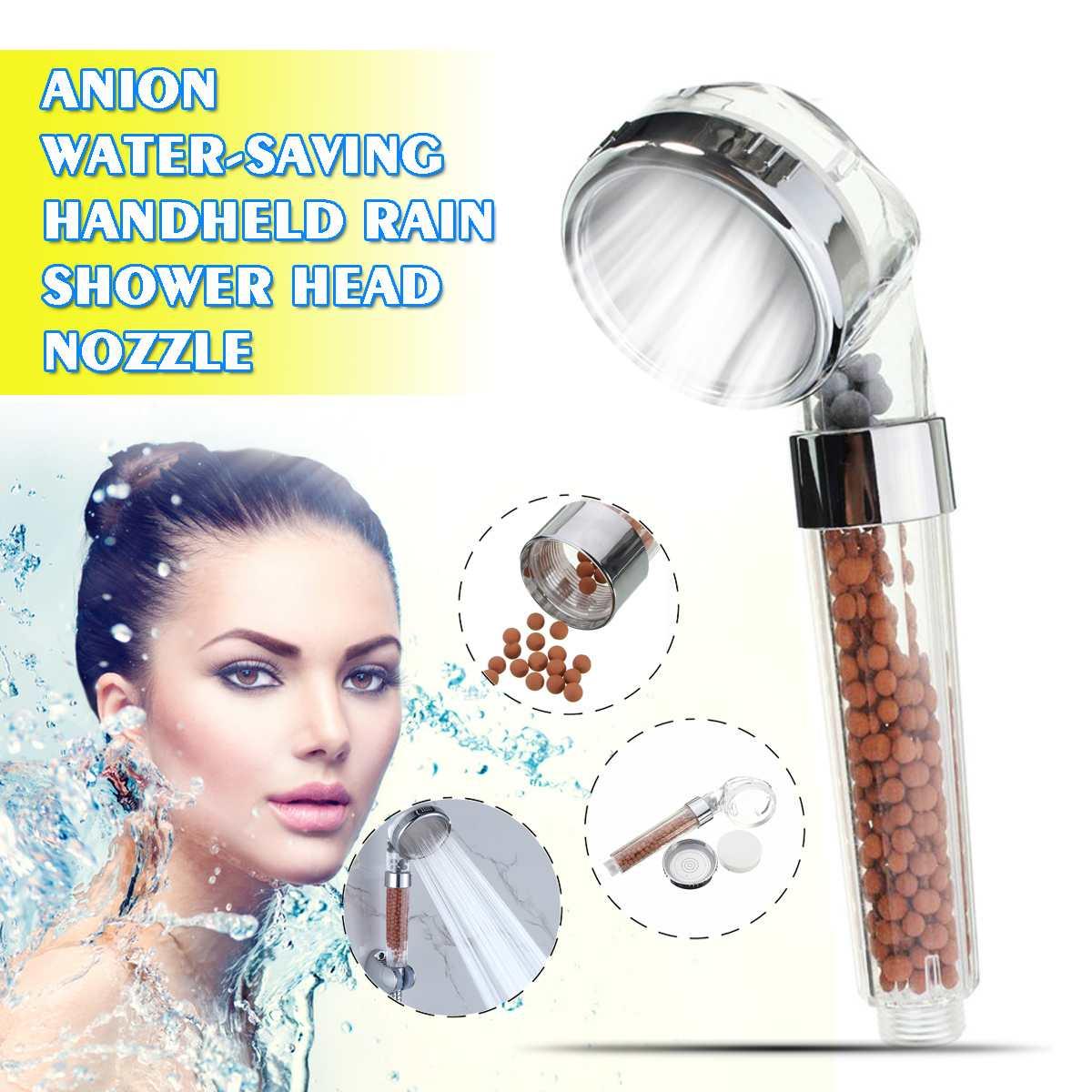 2020 NEUE Handheld Wasser Sparen Dusche Kopf Bad Dusche Düse Sprinkler Sprayer Filter Transparent Hand Dusche Kopf Showerhead