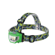 цены Outdoor Headlamp Portable Headlight Green Head Flashlight Lamp Light Hiking Camping Light for Fishing Riding Cycling