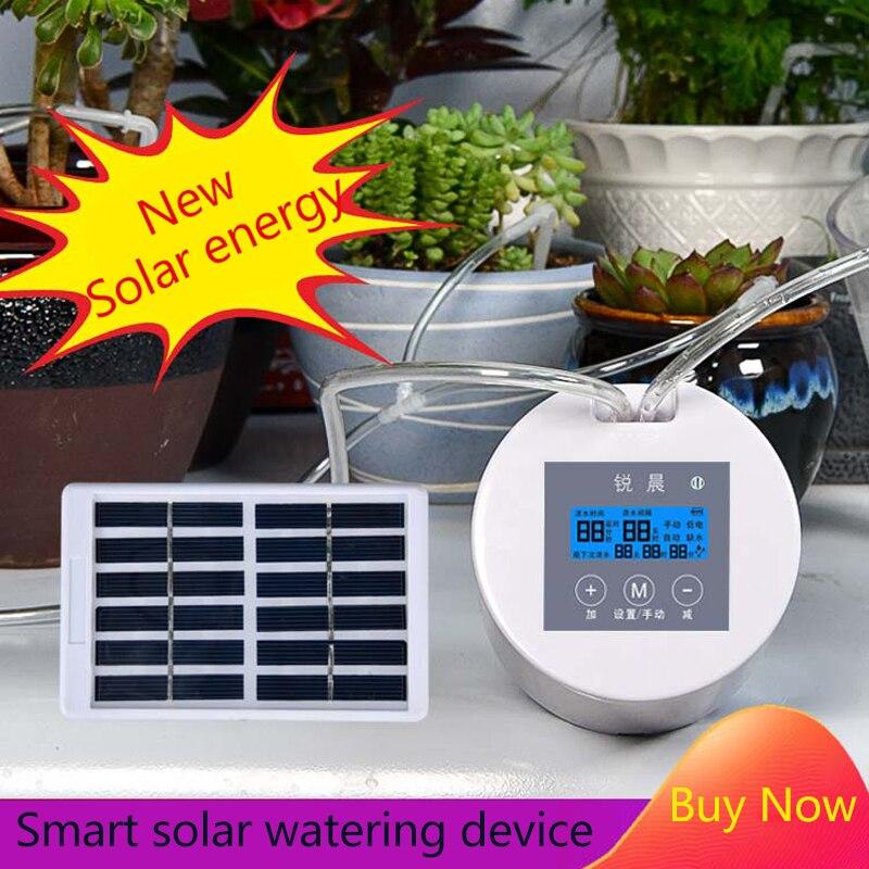 Intelligente timing solar Energie automatische bewässerung gerät haushalt tropf bewässerung system bewässerung Kit für topfpflanze blume