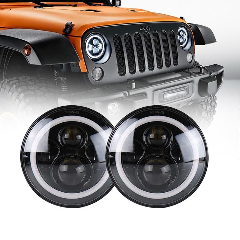 Special 40W Shepherd LED Headlamp With Angel Eye 7 Inch For Refitting Levida Jeep
