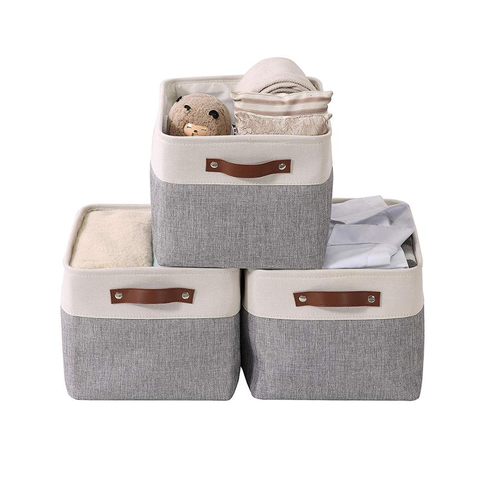 640.66руб. 20% СКИДКА|Кубическая большая для Складывания Белья тканевая корзина для хранения одежды ящик для хранения для детских игрушек Органайзер с ручками из искусственной кожи|Корзины для хранения| |  - AliExpress