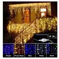 Рождественские огни  светодиодная гирлянда  занавеска  сосулька  гирлянда  220 В  4 м  дроп  96 светодиодов  уличная гирлянда  новогоднее  Рождес...