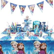 Disney congelado princesa festa de aniversário decoração brinquedos conjunto dos desenhos animados anna elsa anime figura festa de família mesa de jantar brinquedo presente