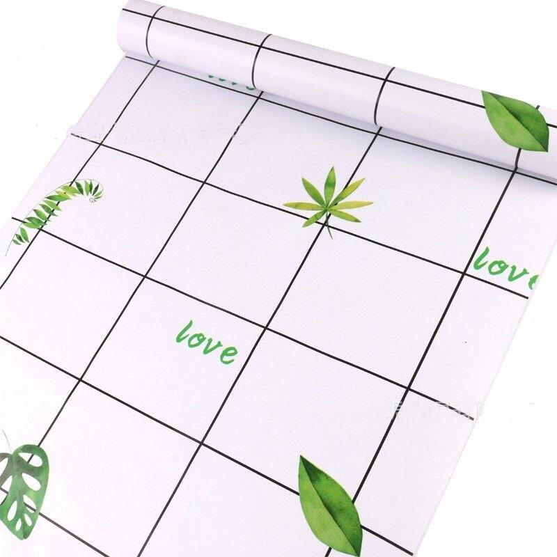 10m nouveauté INS style papier peint loft sticker mural vert dépliant design papier peint papel de parede pour en rouleau taille 0.45*10m