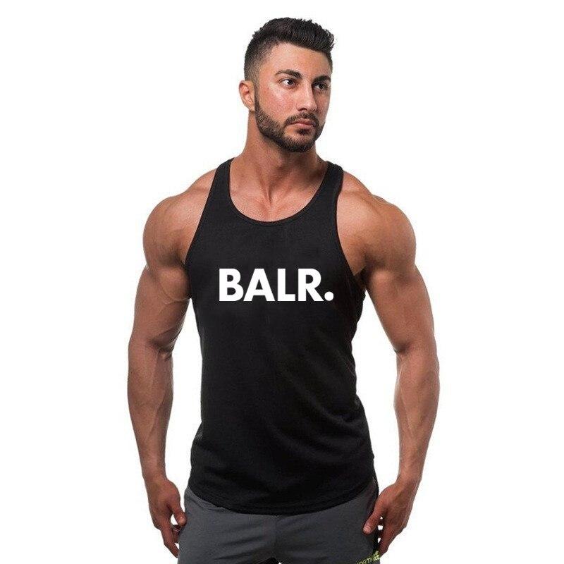 BALR 2019 new cotton men Bodybuilding   tank     top   summer sports fitness sleeveless shirt fashion loose breathable   top