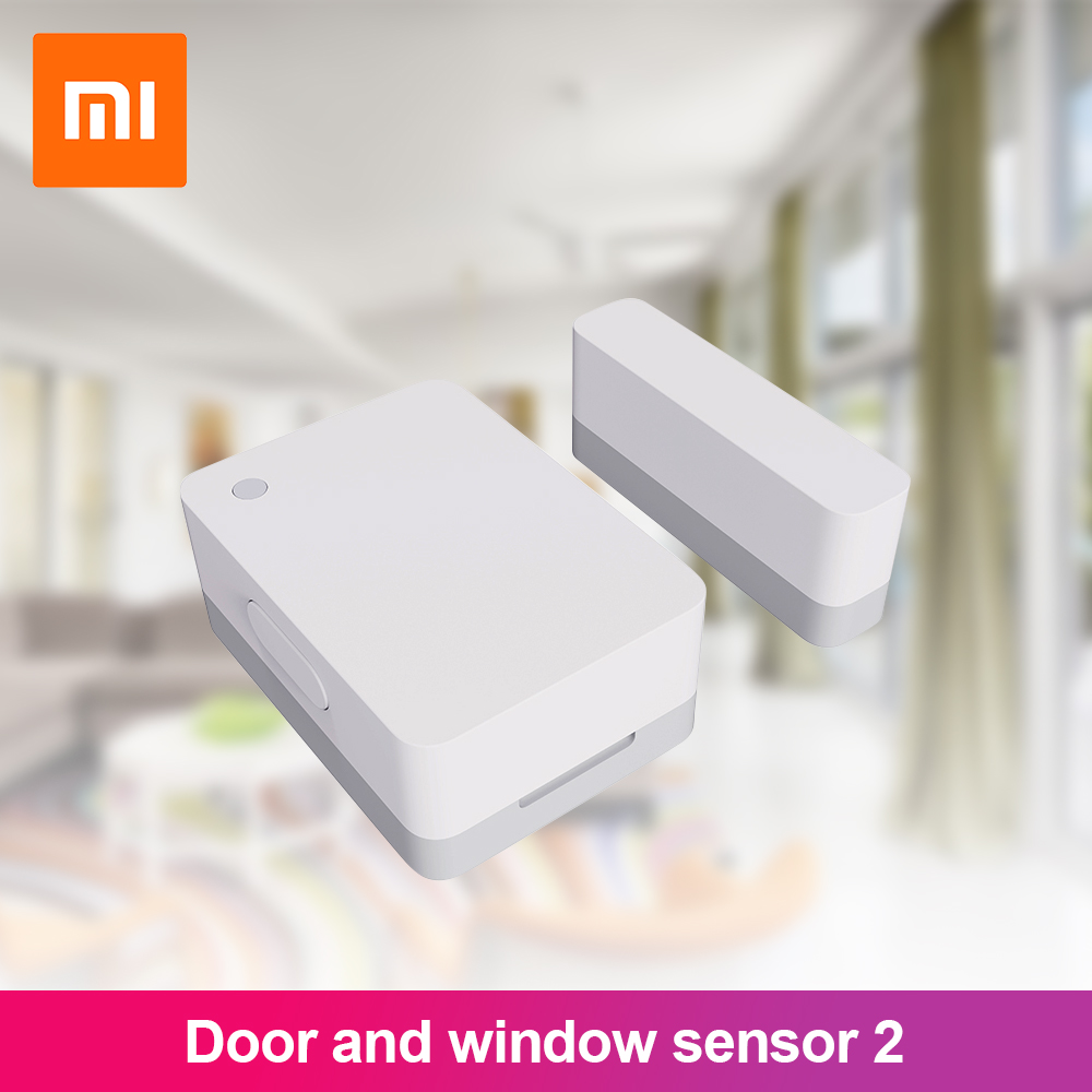 New Xiaomi Mijia Smart Door & Window Sensor 2 Bluetooth 5.0 Light Records Overtime Unclosed Reminder For Mihome App