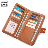 Brand Designer Many Departments Long Clutch Wallet Female Phone Pocket Women Wallets High Quality 19 Slots Ladies Card Purse New