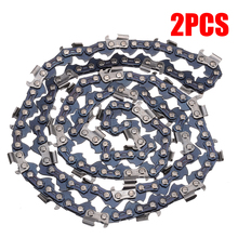 "2Pcs/set 20"" Chainsaw Saw 76 Drive Links Replacement Mill Ripping Chain Blade Pitch 0.325"