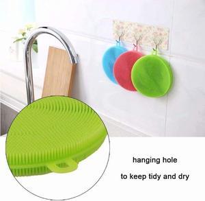 Image 2 - 5PCS/Set Magnic Eraser Silicone Dish Sponge Scrubber Pot Washing Brush Household Cleaning Sponges Brushes 5 Pack