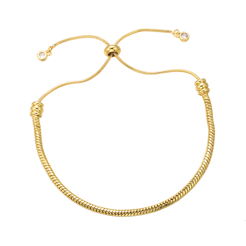 ZHUKOU 2.8x280mm Brass Adjustable Snake Bracelet Chain For Jewelry Making Diy Bracelet Chains Accessories Model:VL22