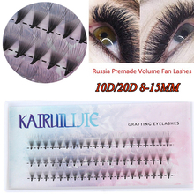 Eyelash-Extensions Individual-Lashes 60-Cluster 10D Thick Fuax 20D
