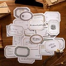 Yoofun 3 wzory * 5 kreatywny granicy rocznika kartki samoprzylepne Bullet Journaling dekoracji Scrapbooking Diy kolaż dokument informacyjny