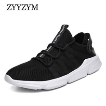 ZYYZYM Shoes Men Sneakers Spring Summer 2019 Casual Breathable Light Fashion White Mesh Big Size 39-48