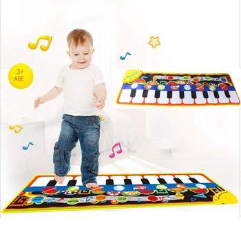 Mini Piano di Giocattoli per Bambini Pianoforte Pad Coperta Musica Gioco Coperta Tocco Genitore-Bambino Prima Educazione di Puzzle Pieghevole per Bambini Musica