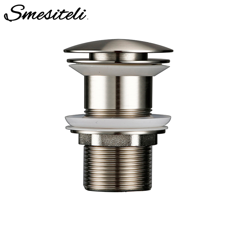 Smesiteli Pop-Up Non-Porous Bathroom Sink Drainer Corrosion Resistant And Durable Without Overflow Hole Design