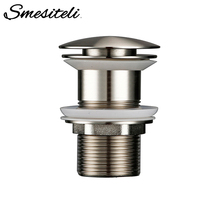 Smesiteli Pop Up Non Porous Bathroom Sink Drainer Corrosion Resistant And Durable Without Overflow Hole Design