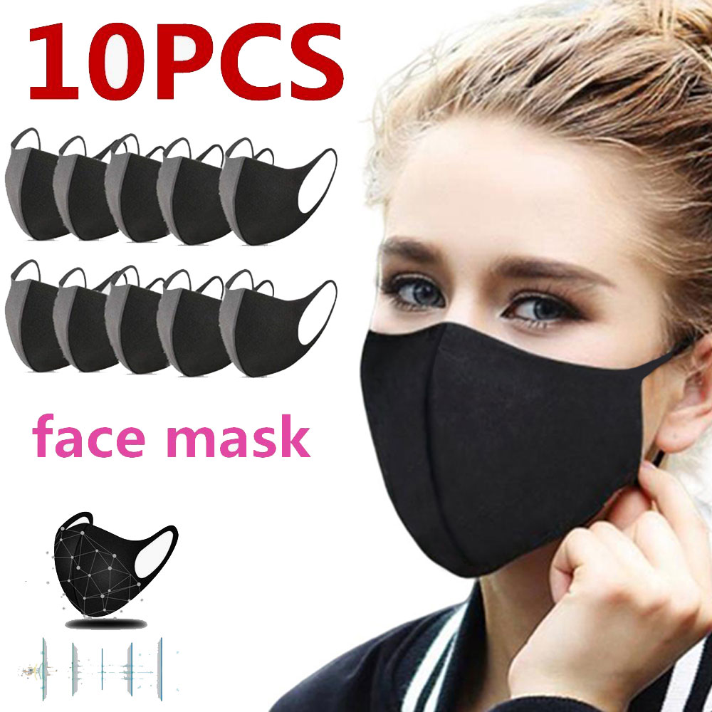 10pcs Male / Female Filter Safety Anti-PM2.5 Air Pollution Mask Stylish Dustproof Carbon Insertable Washable Reusable Mask