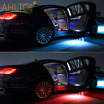 2pcs Car Angel Wings Atmosphere LED Welcome Carpet Lamp Multi-Colorful White Blue Red Door Light Wings of Dream Car Fit All Cars 2pcs car angel wings led welcome carpet light white red blue green crystal blue door light wings of dream car fit all cars