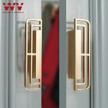 WV Classical Handle Solid Brass Black Gold Vintage Handles 96mm Ancient Cabinet Door Handles for Furniture Drawer Pulls Hardware
