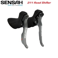 Sensah Road Bike 2*11 Speed Shifter Bicycle Shift Cable Gear Lever Brake Compatible for Shimano Sram 22s Rear Derailleurs