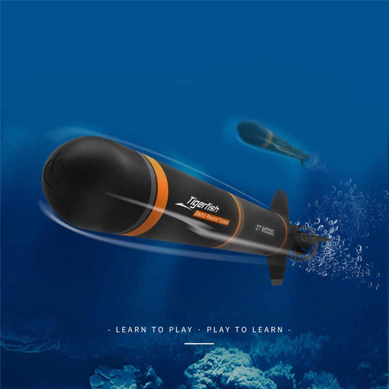 الكهربائية RC الغواصة مركب بلاستيكي الطوربيد الجمعية نموذج أطقم لتقوم بها بنفسك خارج المناهج لعب الاطفال الهدايا استكشاف البحر