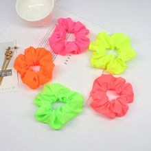 Fashion Neon Scrunch Elastic Hair Ties Colorful Ponytail Holders Bright Color For Women Girls Accessories